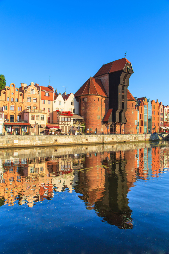 Cityscape of Gdansk in Poland