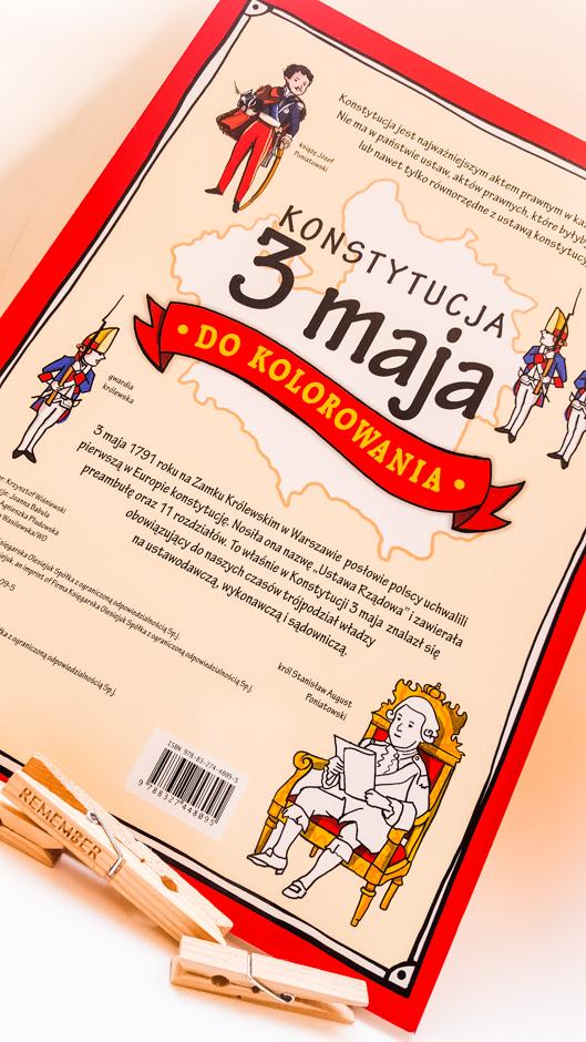 #BiblioteczkaOrzeszka. Konstytucja 3 MAJA do kolorowania!