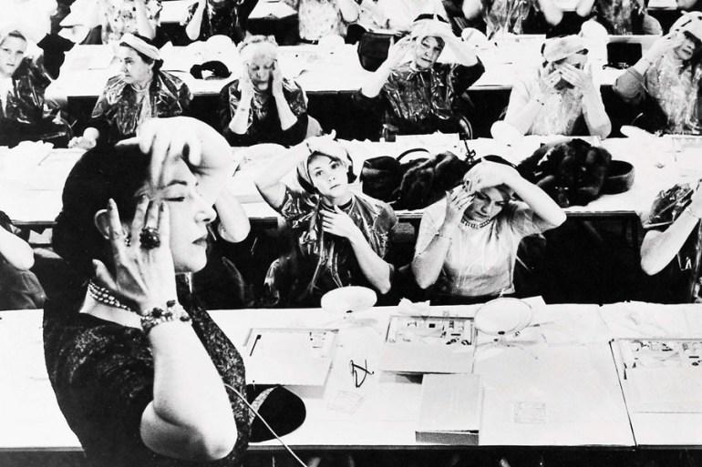 Helena Rubinstein podczas pielęgnacji twarzy warsztacie, foto: Archiwum Agencia / El Universal / Forum