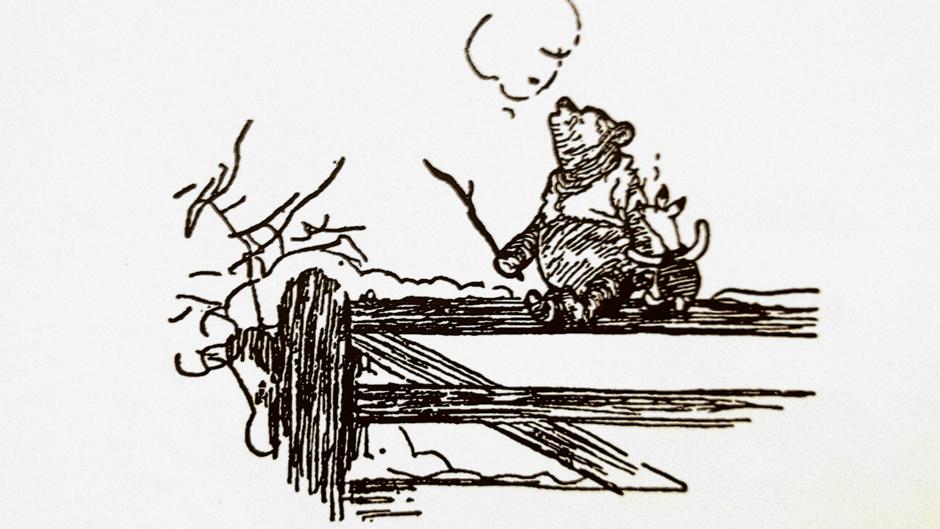 """Ilustracja z książki: """"Wielka Książka Kubusia Puchatka"""", A.A. Milne, David Benedictus"""